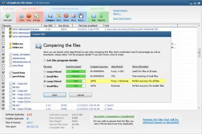 +A Duplicate File Finder 2.40 screenshot