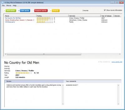 +A Easy Movie Database 1.0 screenshot