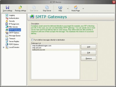 Personal Mail Server Pro 5.27 screenshot