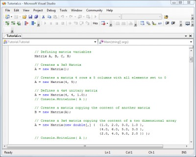 .NET Matrix Library 32-bit Developer 5.0 screenshot