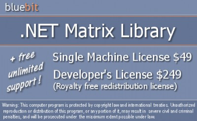 .NET Matrix Library 2.5.5000.8 screenshot
