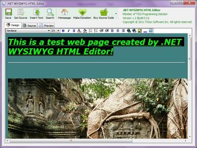 .NET WYSIWYG HTML Editor 2.0 screenshot