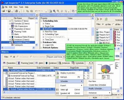 .rpt Inspector Enterprise Suite (for CE 10 / CR 10 3.12 screenshot