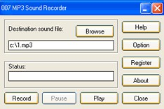 007 MP3 Sound Recorder 1.3 screenshot