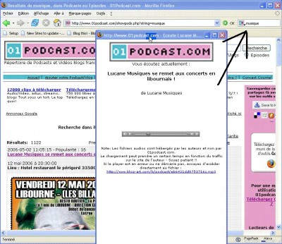 01podcast Firefox search Plugin 1.0 screenshot