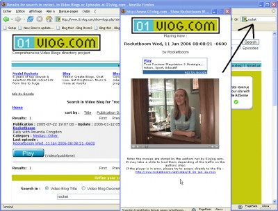 01vlog Firefox search Plugin 1.0 screenshot