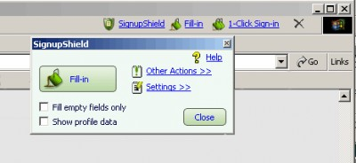 1-Click SignupShield Suite U3 Upgrade 4 screenshot