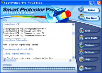 1 Smart Protector - Internet Eraser 18.10 screenshot