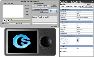 #1 Zune Video Converter 3.16 screenshot