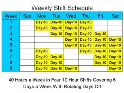 10 Hour Schedules for 6 Days a Week 2 screenshot