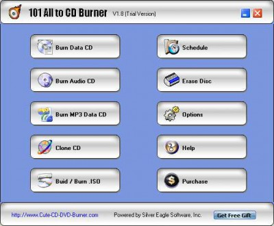 101 All to CD Burner 2.1.8 screenshot