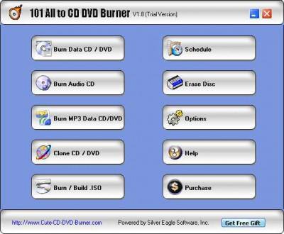 101 All to CD DVD Burner 2.1.8 screenshot