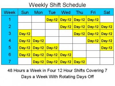 12 Hour Schedules for 7 Days a Week 2 screenshot