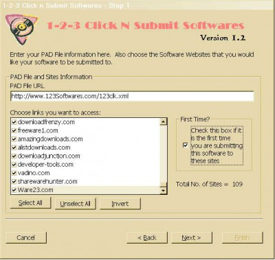123 Click n Submit Softwares 1.2 screenshot