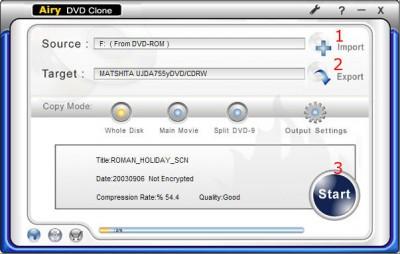 123 DVD Clone 3.0.6.8 screenshot