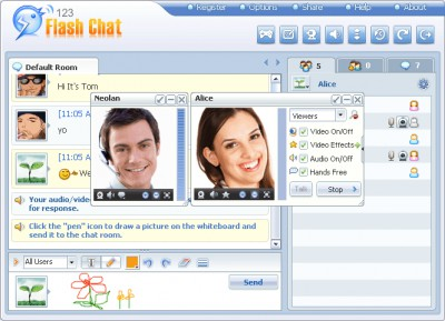 123 Flash Chat Official Windows Client 6.9.4 screenshot