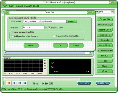 123 Sound Recorder 3.50 screenshot