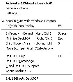 12Ghosts DeskTOP 9.70 screenshot