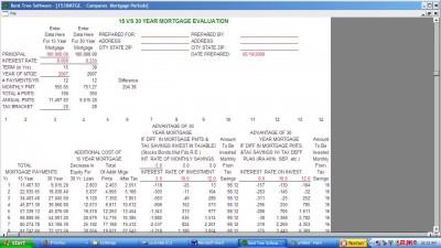 15 vs 30 Year Mortgage 1.2 screenshot