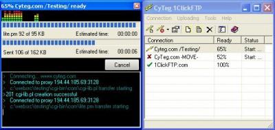 1ClickFTP 2.10 screenshot