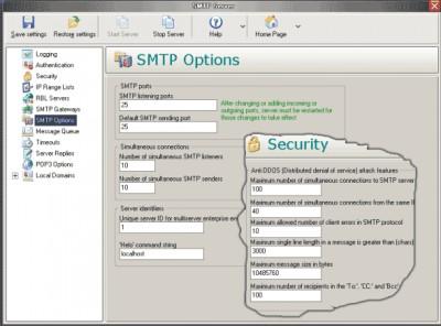 1st Mail Server 5.263 screenshot