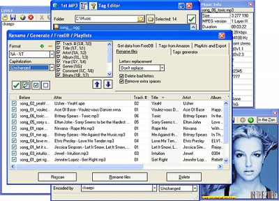 1st MP3 Tag Editor 5.91 screenshot