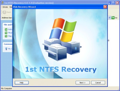 1st NTFS Recovery 2.58.7 screenshot