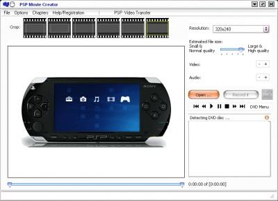 1st PSP Movie Creator 7.1.26.03 screenshot