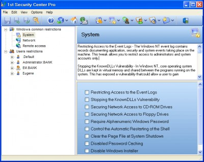 1st Security Center Pro 8.1.1.23 screenshot