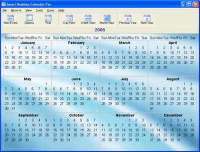 1st Smart Desktop Calendar 15.1 screenshot