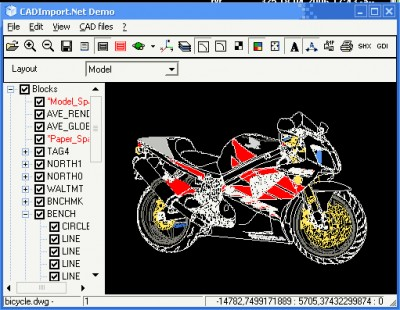 2d 3d cad import net 1 5 screenshot