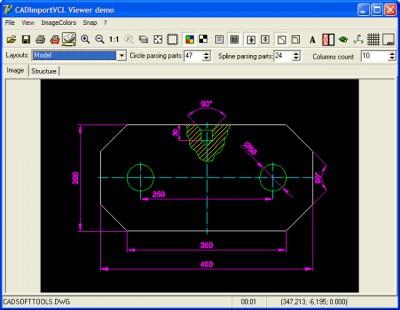 2D/3D CAD Import VCL 5.25 screenshot