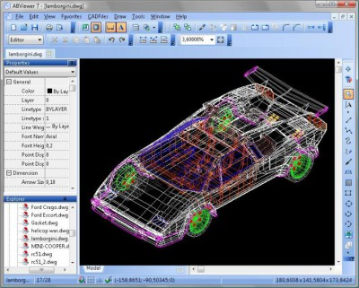 2D Viewer & Editor: DWG DXF PLT TIFF CGM 7.4 screenshot
