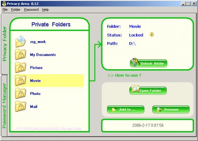 2in1 Privacy Folder and Password Manager 8.3 screenshot