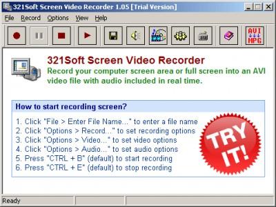 321 Screen Video Recorder 1.069.03 screenshot