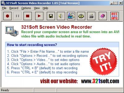 321Soft Screen Video Recorder 1.05.4 screenshot