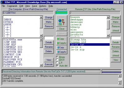 32bit FTP 16.08.01 screenshot