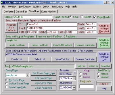 32bit Internet Fax 12.06.01 screenshot