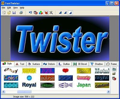 3D FontTwister text & button maker 1.3 screenshot
