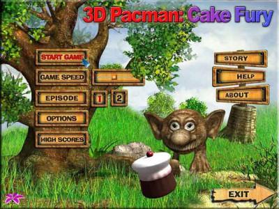 3D Pacman: Cake Fury 2.1 screenshot