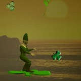 3D Shamrock Surfing Leprechaun 1.0 screenshot