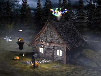 3d halloween desktop wallpaper. 3D Spooky Halloween Screensaver 1.0 screenshot