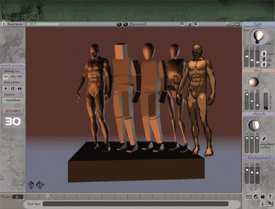 3D Virtual Figure Drawing Studio Male 1.071 screenshot