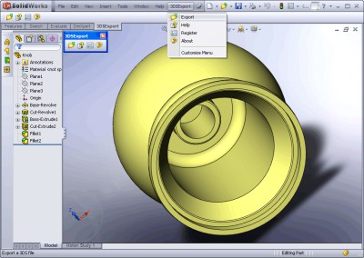 3DS Export for SolidWorks 1.0 screenshot