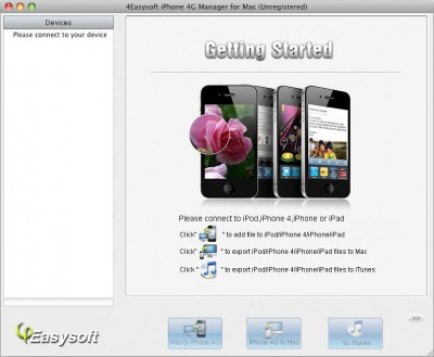 4Easysoft iPhone 4G Manager for Mac 3.1.16 screenshot