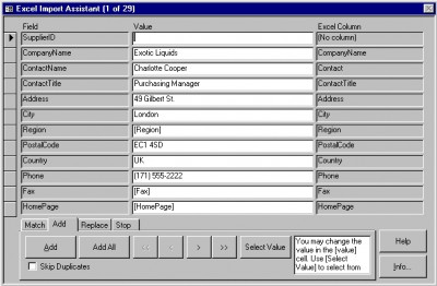 4TOPS Excel Import for MS Access 2000 3.24 screenshot