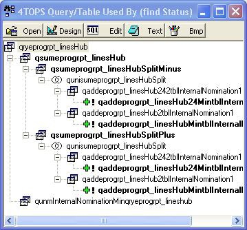 4TOPS Query Tree Editor for MS Access 4.0 screenshot