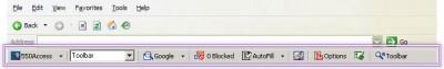 550 Access Toolbar 3.2.01 screenshot