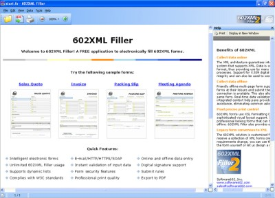 602XML Form Filler 2.0 screenshot
