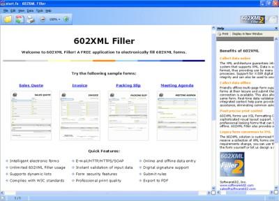 602XML Form Filler 2.0 screenshot